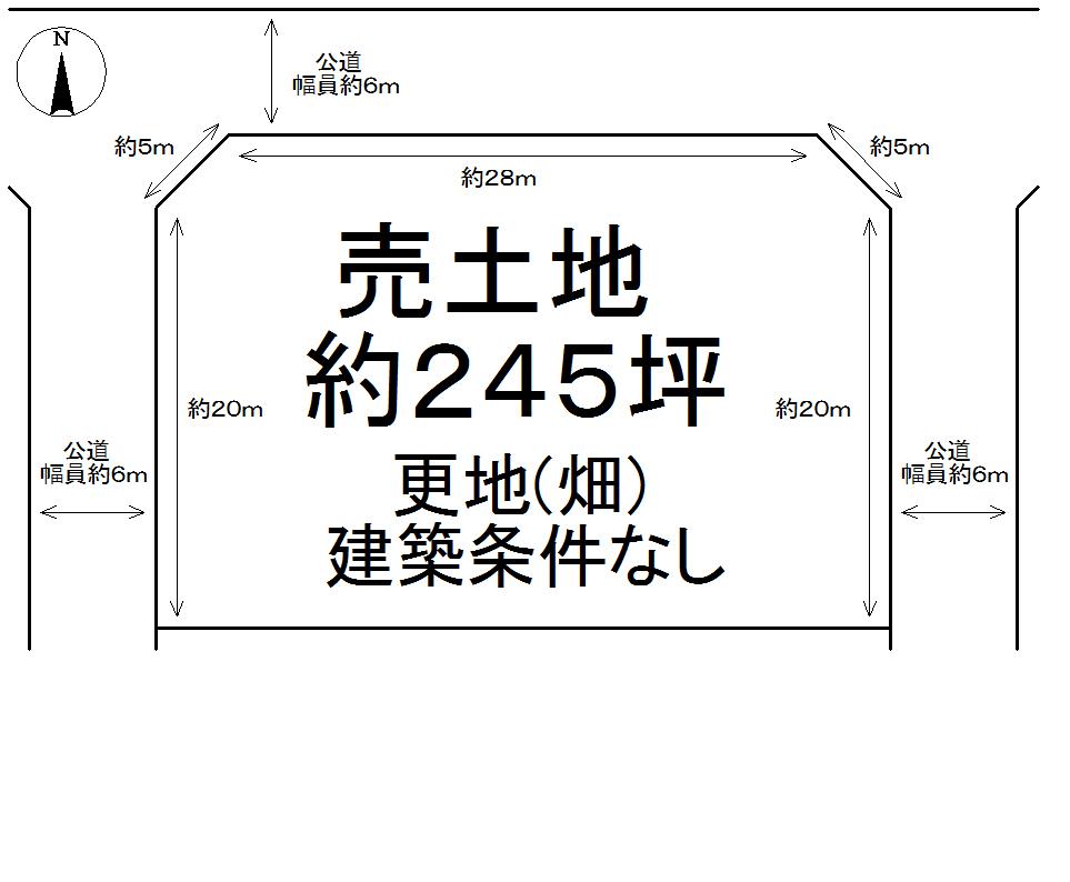 桜井市谷1182土地図面